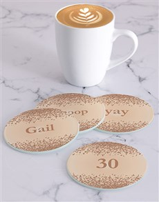 gifts: Personalised Spots Coasters!