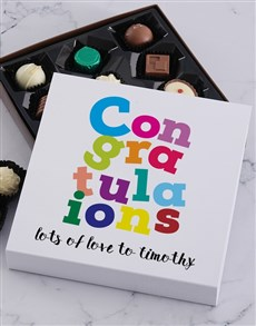 gifts: Personalised Congrats Chocolate Tray!
