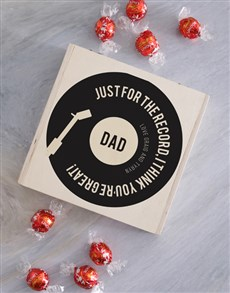 gifts: Personalised Record Chocolate Box!