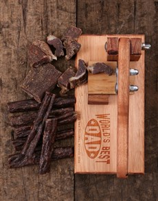 gifts: Personalised Best Dad Biltong Cutter!