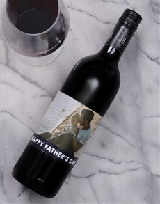 gifts: Fathers Day Personalised Photo Wine!