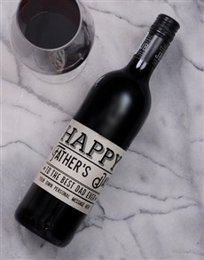 gifts: Personalised Best Dad Ever Wine!