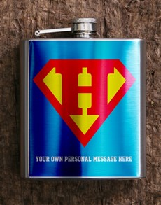 gifts: Personalised Superman Hip Flask!