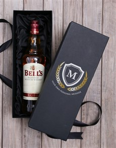 gifts: Personalised Bells Whisky Box!
