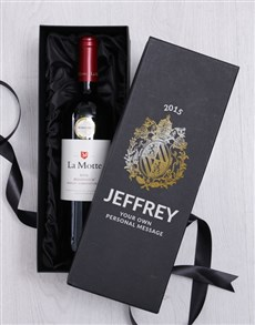 gifts: Personalised Crest Wine Giftbox!