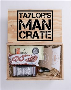 gifts: Personalised Man Crate!