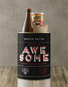 gifts: Personalised Awesome Bro Bucket!