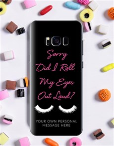 gifts: Personalised Eyeroll Samsung Cover!
