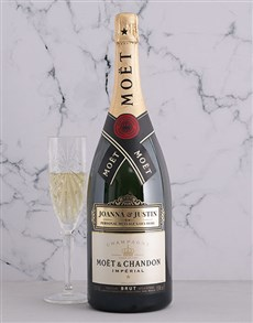 gifts: Personalised Moet Magnum!