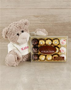 gifts: Personalised Teddy and Ferrero!