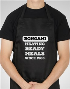 gifts: Personalised Heating Ready Meals Apron!