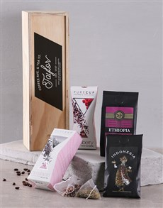 gifts: Personalised Coffee Ave and Tea St in Crate!