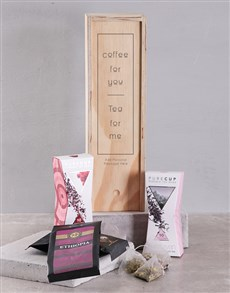 gifts: Personalised Coffee and Tea Crate!