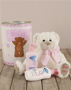 gifts: Personalised Baby Girl Tin!
