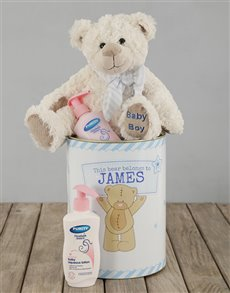 gifts: Personalised Baby Boy Tin!