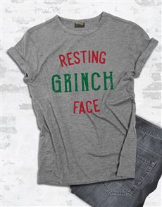 gifts: Resting Grinch Face Tshirt!