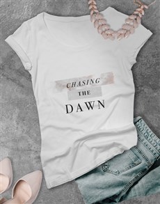 gifts: Ladies White Dawn Tshirt!