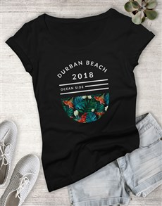gifts: Personalised Ocean Side Ladies Tshirt!