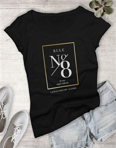 gifts: Rule No 8 Ladies Tshirt!