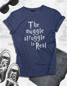 gifts: Navy Muggle Struggle Tshirt!