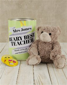 gifts: Personalised Best Teacher Teddy Tin!