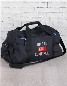 gifts: Personalised Time To Kill Some Fat Gym Bag!