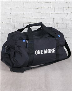 gifts: Personalised One More Gym Bag with Earphones!