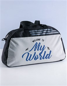 gifts: Personalised My World Gym Bag!