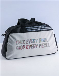 gifts: Personalised Take Risks Gym Bag!