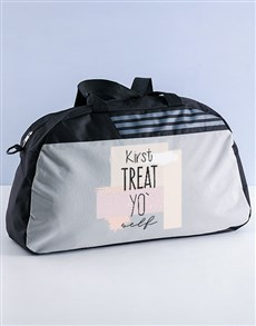 gifts: Personalised Treat Yourself Gym Bag!