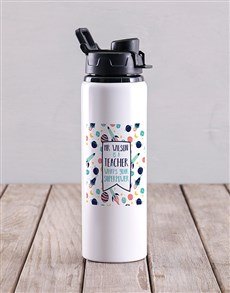 gifts: Personalised Teacher Superpower Water Bottle!