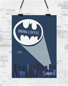 gifts: Personalised Bring Coffee Poster!