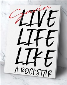 gifts: Personalised Live Life Poster!
