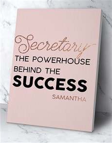 gifts: Personalised Secretary Success Wall Art!