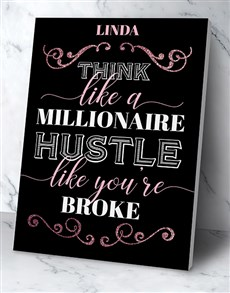 gifts: Personalised Millionaire Hustler Poster!