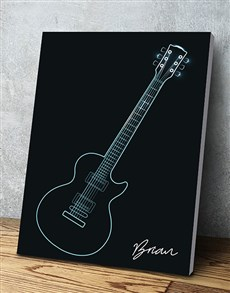 gifts: Personalised Blue Guitar Wall Art!