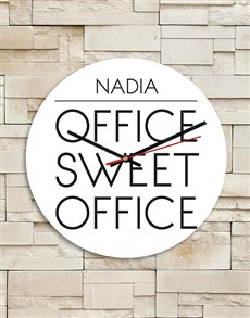 gifts: Personalised Sweet Office MDF Clock!