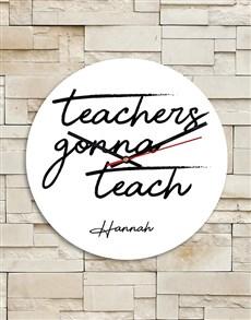 gifts: Personalised Teachers Teach MDF Clock!