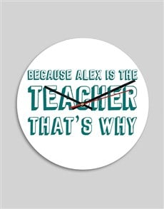 gifts: Personalised Teacher MDF Clock!