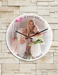 gifts: Personalised Grandchildren MDF Clock!