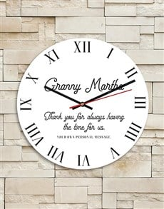 gifts: Personalised Granny MDF Clock!