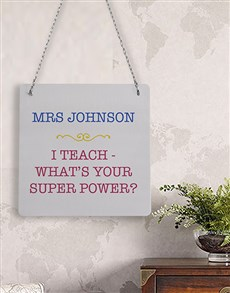 gifts: Personalised Super Power Metal Sign!