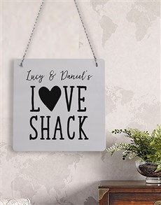 gifts: Personalised Love Shack Metal Sign!