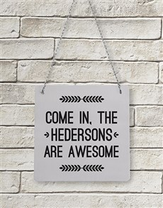 gifts: Personalised Are Awesome Metal Sign!