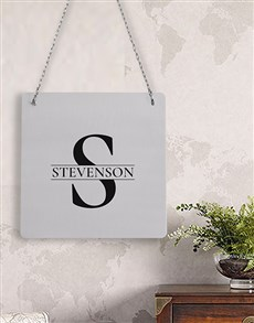 gifts: Personalised Initial Metal Sign!