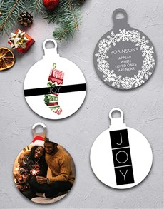 gifts: Personalised Christmas Joy Tree Decorations!