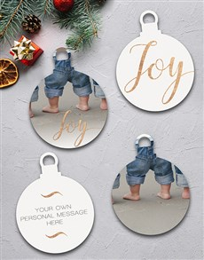 gifts: Personalised Golden Joy Tree Ornaments!