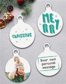 gifts: Personalised Merry and Bright Tree Decorations!