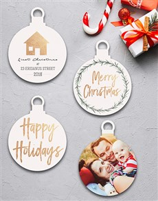 gifts: Personalised Happy Holidays Tree Decorations!