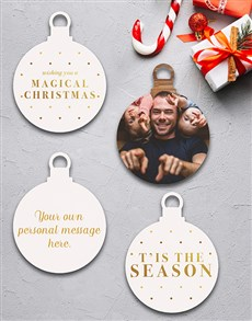 gifts: Personalised It Is The Season Tree Decorations!